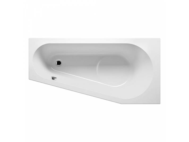 Акриловая асимметричная ванна Riho Delta 160х80 см L левая