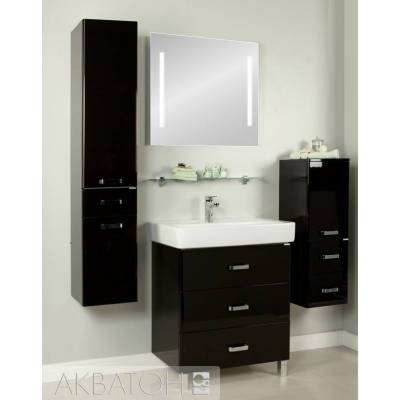Комплект мебели Акватон Америна 80 М чёрный