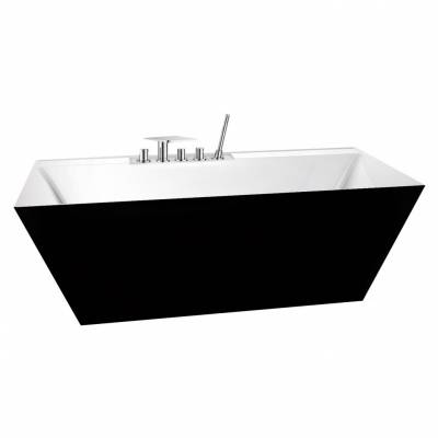 Ванна акриловая Belbagno 181x81x60 см BB19 NERO BIA
