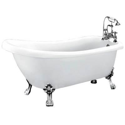 Ванна акриловая Belbagno 170x73x77 см BB20 CRM хром