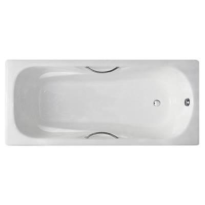 Чугунная ванна Castalia Paola 170x75x42 ручки хром