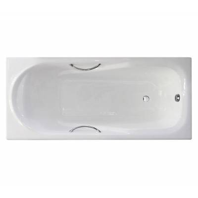 Чугунная ванна Castalia Carina 170x75x42 ручки хром