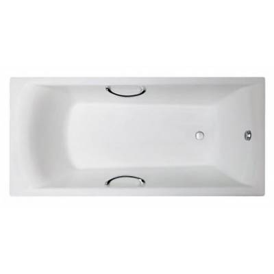 Чугунная ванна Castalia Prime 150x70x43 ручки хром