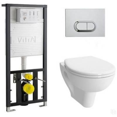 Унитаз подвесной безободковый Vitra S20 9004B003-7202 сиденье микролифт