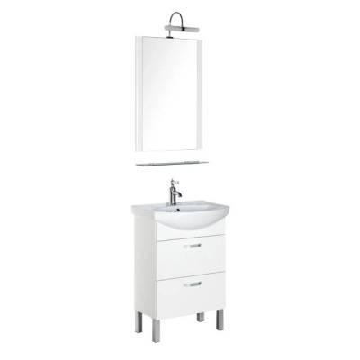 Комплект мебели для ванной Aquanet Алькона 60 белый (2 ящика)