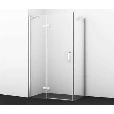 Душевой уголок с распашной дверью 120x80 Wasserkraft Aller 10H06L