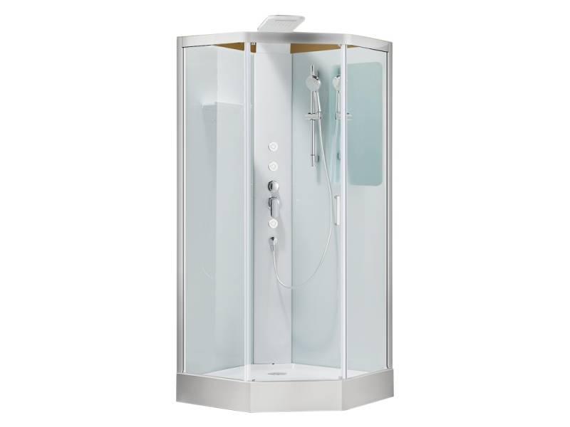 Душевая кабина 90x90 Aquanet Passion P прозрачное стекло