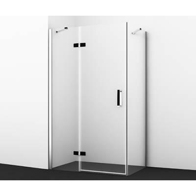 Душевой уголок с распашной дверью 120x80 Wasserkraft Aller 10H06LBLACK