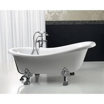 Ванна акриловая Belbagno 170x76x81 см BB06 xром