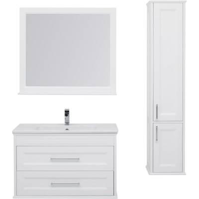 Комплект мебели для ванной Aquanet Бостон 100 ясень белый