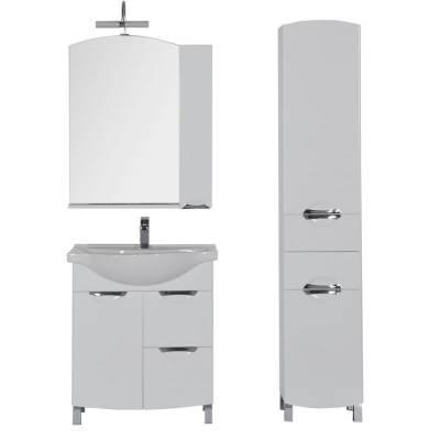 Комплект мебели для ванной Aquanet Асти 75 бк белый (зеркало шкаф/полка)