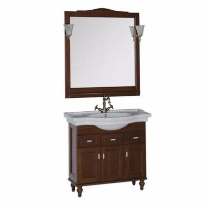 Комплект мебели для ванной Aquanet Амелия 100 орех