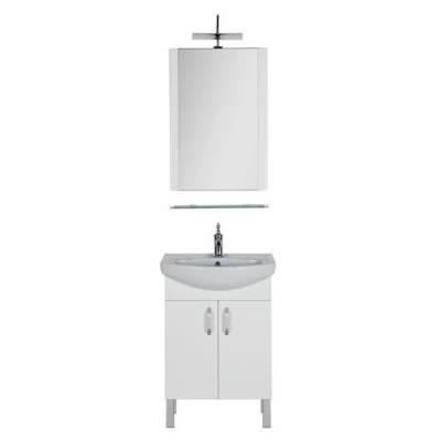 Комплект мебели для ванной Aquanet Алькона 60 белый (2 дверцы)