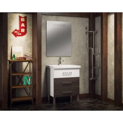 Комплект мебели Smile Боско 70 белый/винтаж (тёмный)