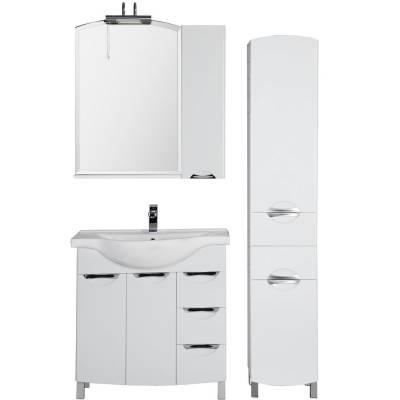 Комплект мебели для ванной Aquanet Асти 85 белый