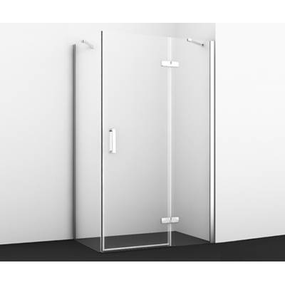 Душевой уголок с распашной дверью 120x100 Wasserkraft Aller WHITE 10H10RW