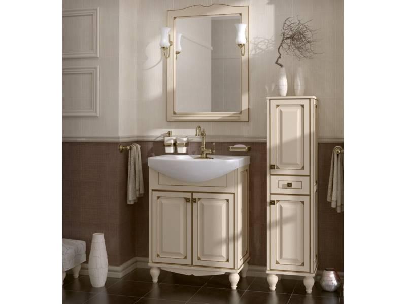 Комплект мебели ASB-Woodline Верона 65 бежевый с патиной золото