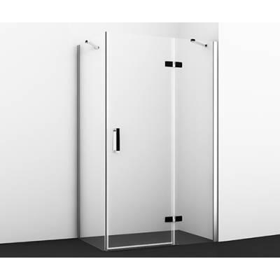 Душевой уголок с распашной дверью 120x80 Wasserkraft Aller 10H06RBLACK
